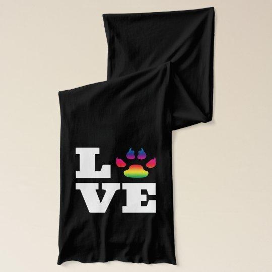 Rainbow paw scarf