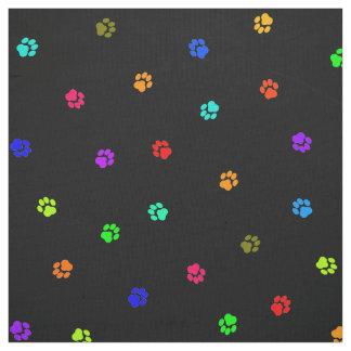 Rainbow Pawprint Fabric