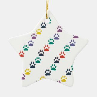 Rainbow Paws Ceramic Star Decoration