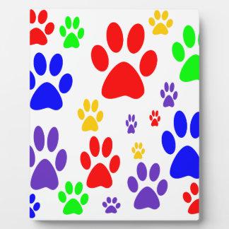 rainbow paws plaque