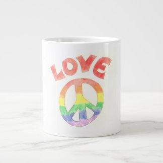 Rainbow Peace Large Coffee Mug