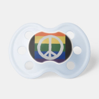 Rainbow Peace Pacifier