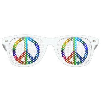 Rainbow Peace Retro Sunglasses