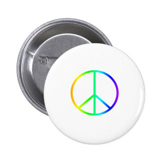 Rainbow Peace Sign Pinback Buttons