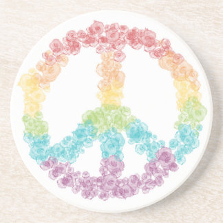 Rainbow Peace Sign Coaster