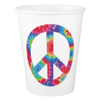 Rainbow Peace Sign Cups 60s sixties themed party