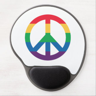 Rainbow Peace Sign Gel Mousepad