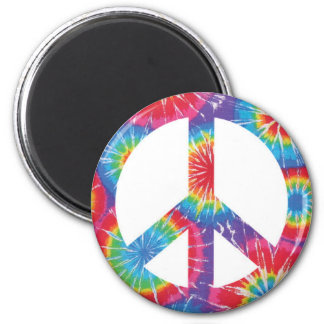 Rainbow Peace Sign Hippie Magnet
