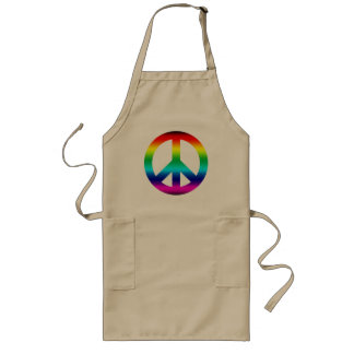 Rainbow Peace Sign Long Apron