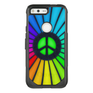 Rainbow Peace Sign OtterBox Commuter Google Pixel Case
