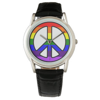 Rainbow Peace Sign Watch