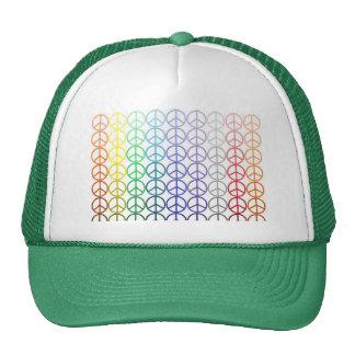 Rainbow Peace Signs Mesh Hat