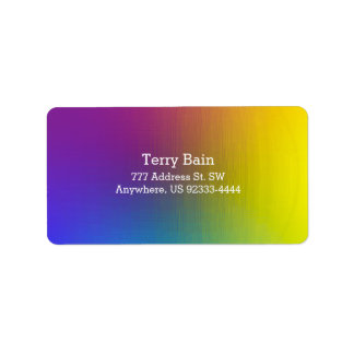 Rainbow Pearl Address Label