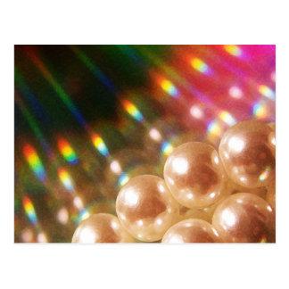 Rainbow Pearls Postcard