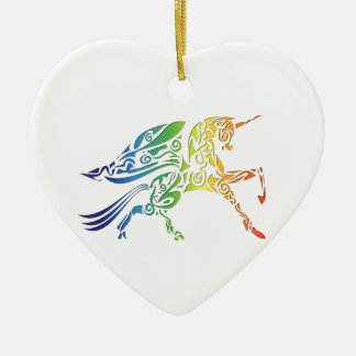 Rainbow Pegasus Merchandise Ceramic Heart Decoration