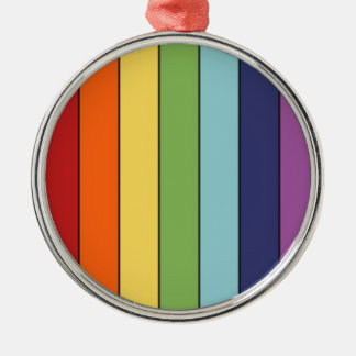 Rainbow pencils Silver-Colored round decoration