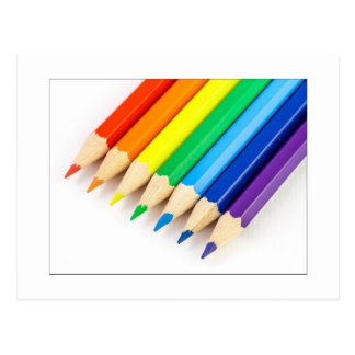 Rainbow Pencils Postcard
