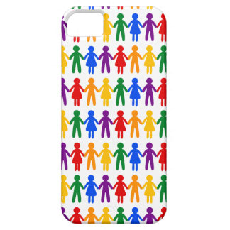 Rainbow People Pattern Case For The iPhone 5