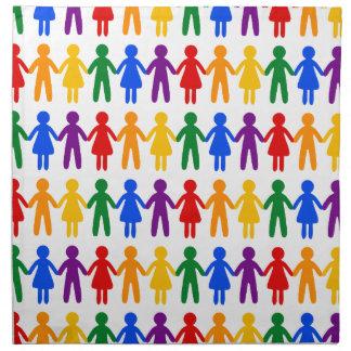 Rainbow People Pattern Napkin