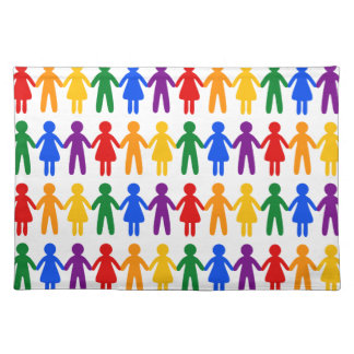 Rainbow People Pattern Placemat