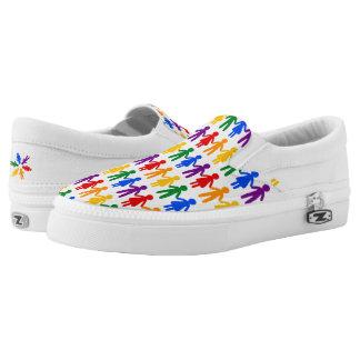 Rainbow People Slip-On Shoes