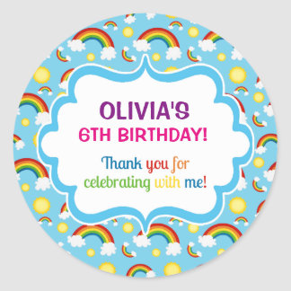 Rainbow personalised personalised cute cloud seals