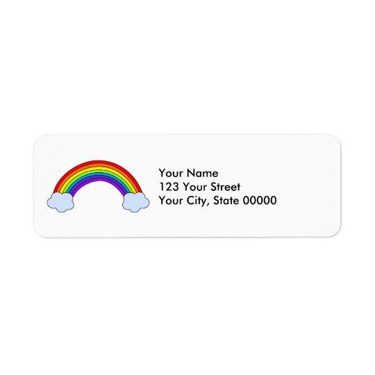 Rainbow Personalised Return Address Label