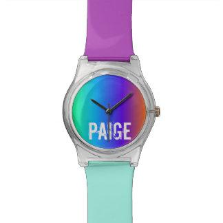 Rainbow Personalised Watch
