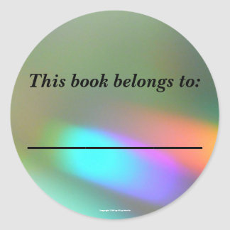 Rainbow Phantoms Bookplate Classic Round Sticker