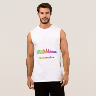 Rainbow Philadelphia skyline Sleeveless Shirt