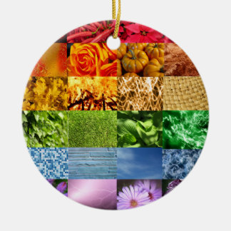 Rainbow Photo Collage Ornament