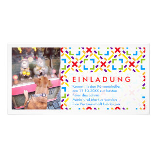 Rainbow photo invitation customized photo card