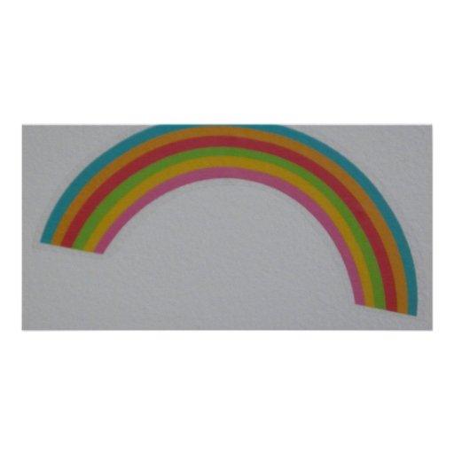 rainbow photo card template