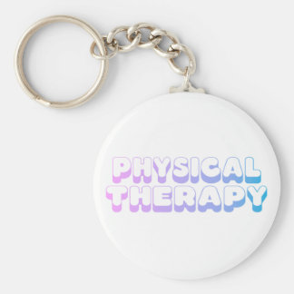 Rainbow Physical Therapy Basic Round Button Key Ring