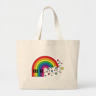 Rainbow Piano Jumbo Tote Bag