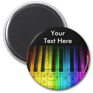 Rainbow Piano Keyboard and Notes Fridge Magnets