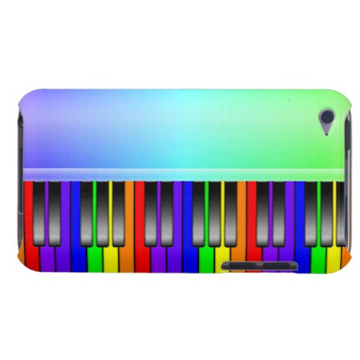 Rainbow Piano Keyboard iPod Case-Mate Case