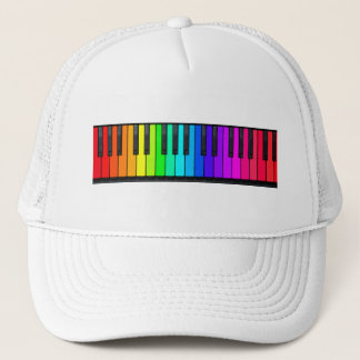 Rainbow Piano Keyboard Hat