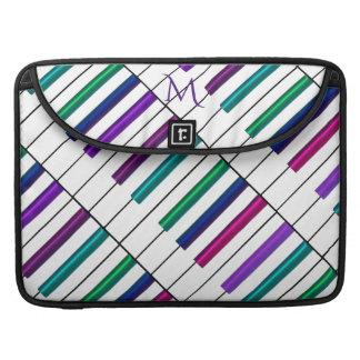 Rainbow Piano Keyboard Monogram Macbook Sleeve Sleeve For MacBooks