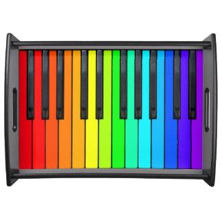 Rainbow Piano Keyboard Serving Tray