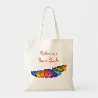 Rainbow Piano Keys Canvas Bags