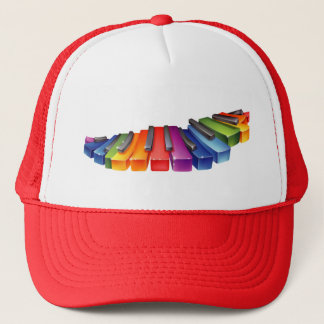 Rainbow Piano Keys Trucker Hat