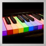 Rainbow Piano Print