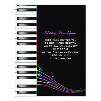 Rainbow Piano Recital Card