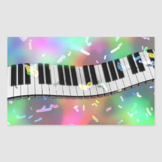 rainbow piano stickers