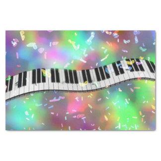 rainbow piano tissue paper