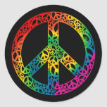 Rainbow Pieces of Peace Round Sticker