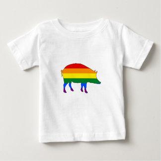 Rainbow Pig Baby T-Shirt