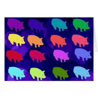 Rainbow Pigs Card