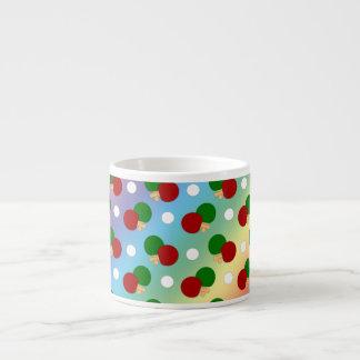 Rainbow ping pong pattern espresso mug